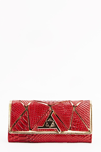 Mock Croc Gold Trim Purse