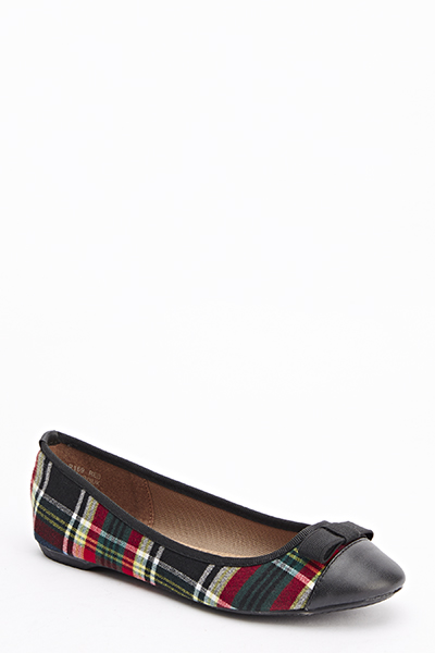new products later buy popular Tartan Ballet Pumps