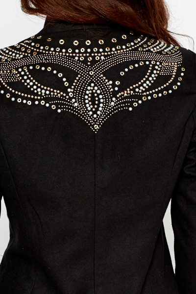Black Studded Back Blazer