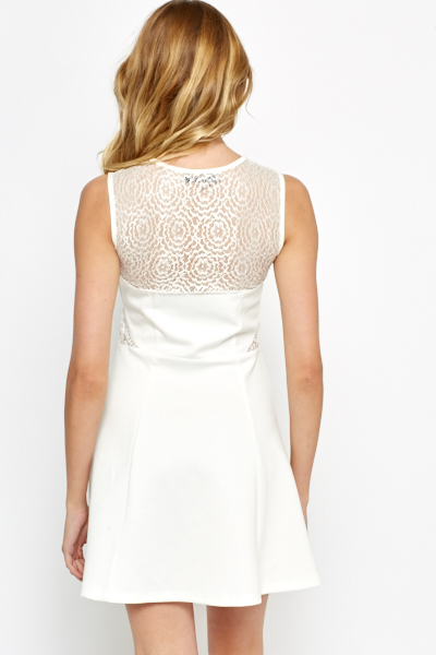 Lace Sweetheart Skater Dress
