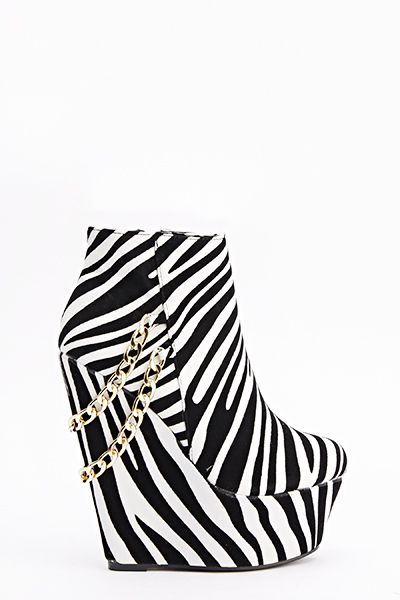 Zebra Chain Back Wedges