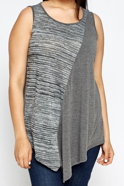 Contrast Grey Tunic