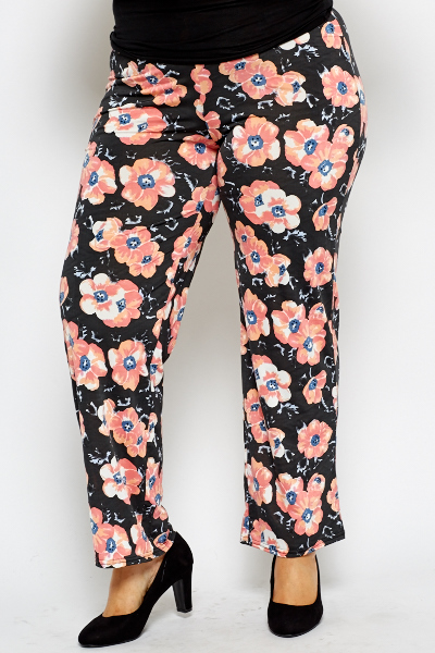 Floral Peach Trousers