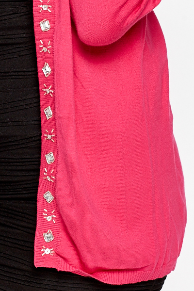Hot Pink Studded Cardigan
