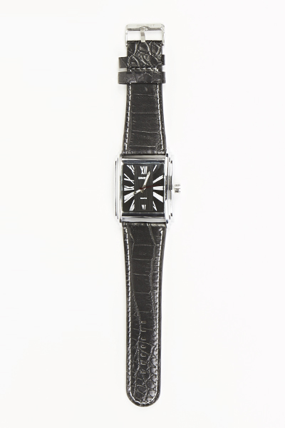 Mens Square Face Black Watch