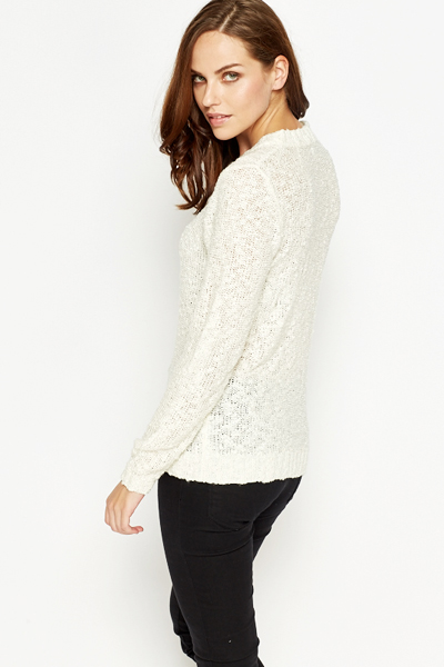 Ribbed Neck Jumper