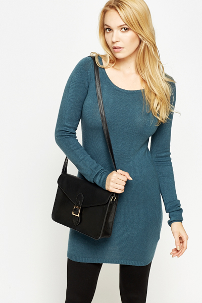 Round Neck Fine Jumper Dress