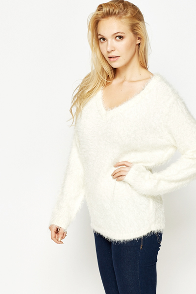 Eyelash Knit Oversized Jumper