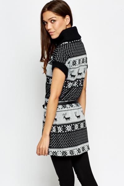 Fair Isle High Neck Jumper Dress - Just £5