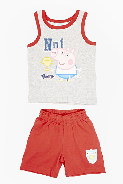 George Pig Vest And Shorts Set