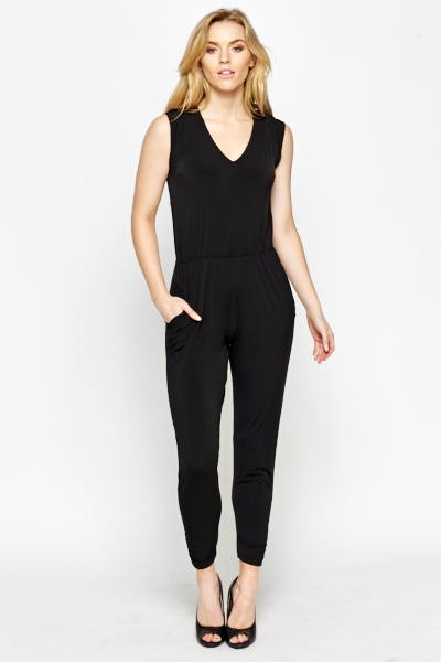 Wrap Black Jumpsuit