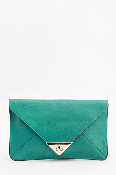 Envelope Twist Lock Clutch Bag