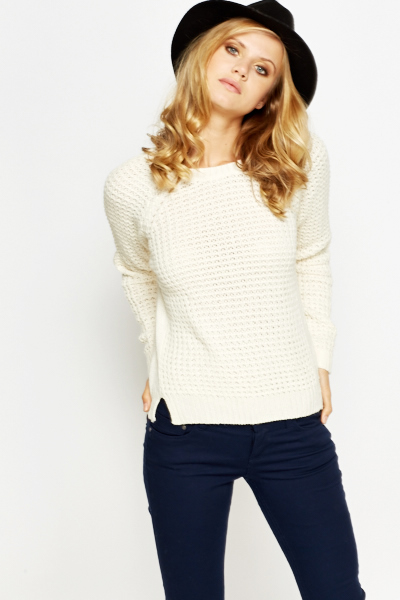 Chunky Knit Panel Jumper