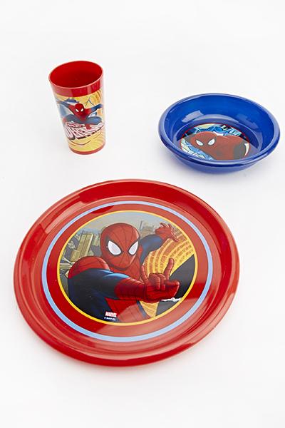 Spiderman Three Piece Breakfast Set & Spiderman Three Piece Breakfast Set - Just £5