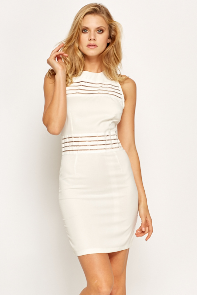c7f3b7584b67 Striped Sleeveless Bodycon Dress - Just £5