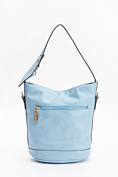 Casual Faux Leather Bucket Bag