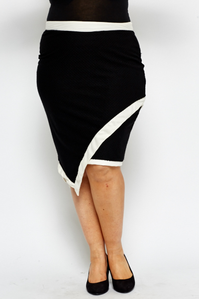 Asymmetric Textured Skirt