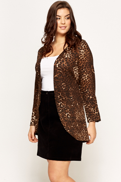 Leopard Print Tie Up Cardigan