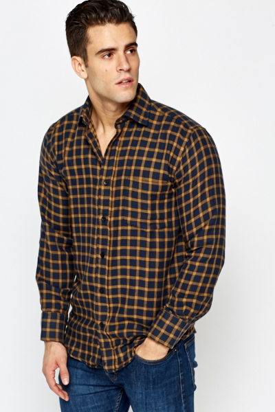 Navy Grid Shirt
