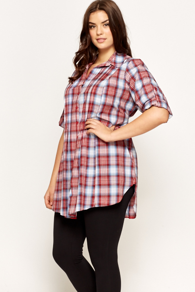 Tie Up Multi Checked Shirt