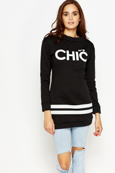 Chic Varsity Long Sleeve Top