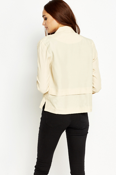 Cream Open Smart Jacket