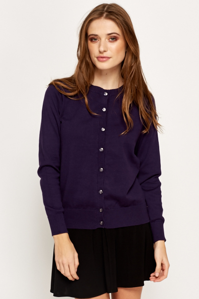 Ribbed Button Up Cardigan - Just £5