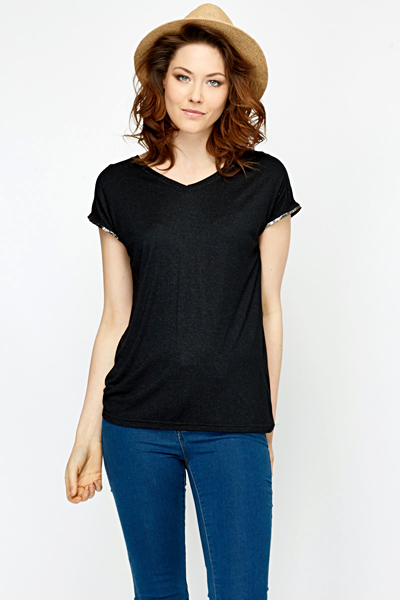 Burn Out V-Neck Casual Tee