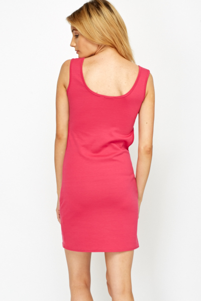Clip Front Fuchsia Cut Out Dress
