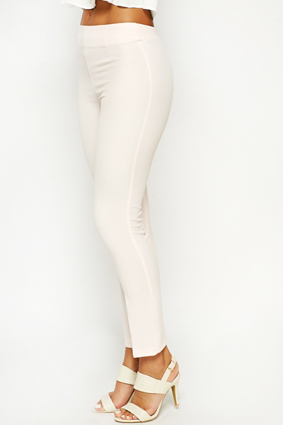 Light Pink Skinny Fit Trousers
