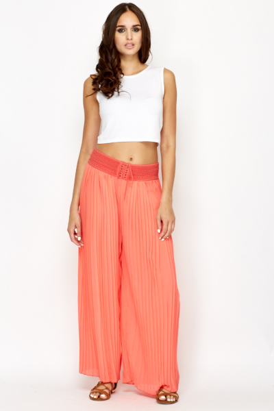 Summer Palazzo Pleated Trousers