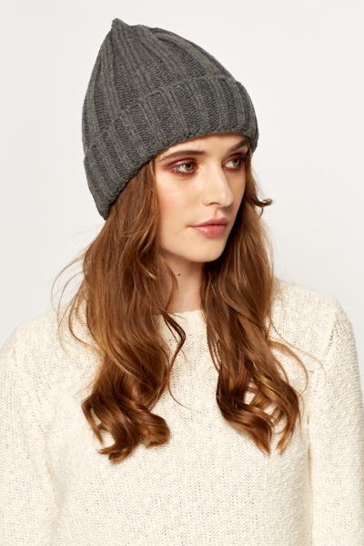 5a507ddf000 Dark Grey Speckled Beanie Hat - Just £5