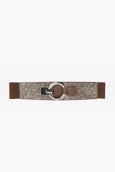Image of Encrusted Round Buckle Belt