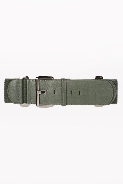 Image of Faux Leather Buckle Belt