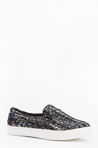 Sequin Tweed Design Plimsolls