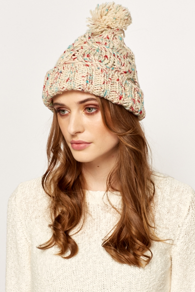 Speckled Bobble Beanie Hat