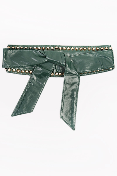 Studded Faux Leather Wrap Belt