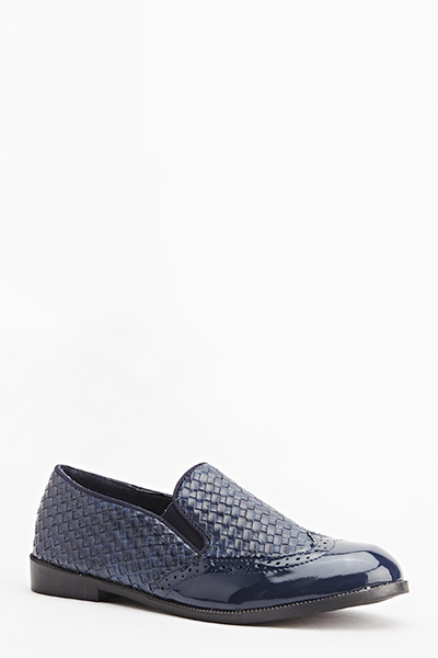 Woven Contrast Shoes