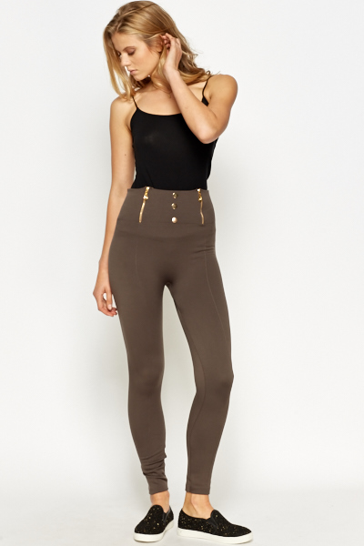 High Waist Treggings