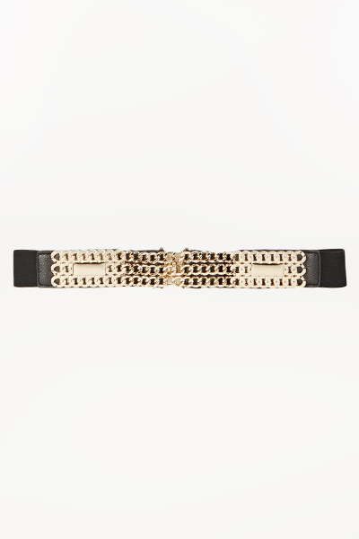 Chain Embellished Front Belt