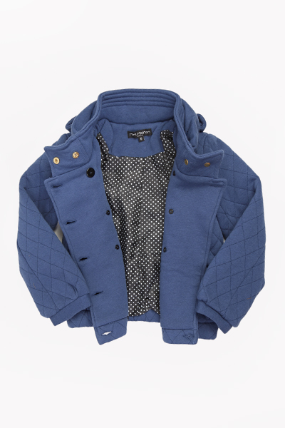 Quilted Padded Button Front Jacket