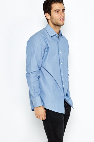 Blue Striped Formal Shirt