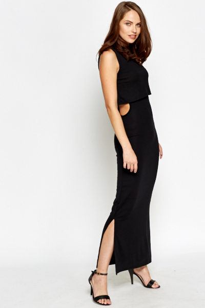 Overlay Open Side Maxi Dress