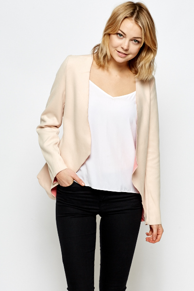 Open Fleece Blazer Jacket