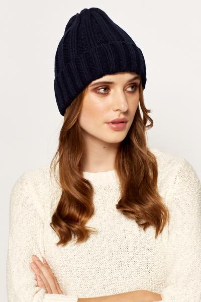 Image of Rib Knit Beanie Hat