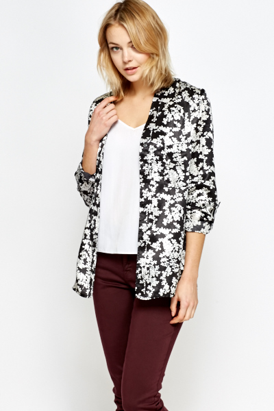Silk Feel Mono Floral Blouse