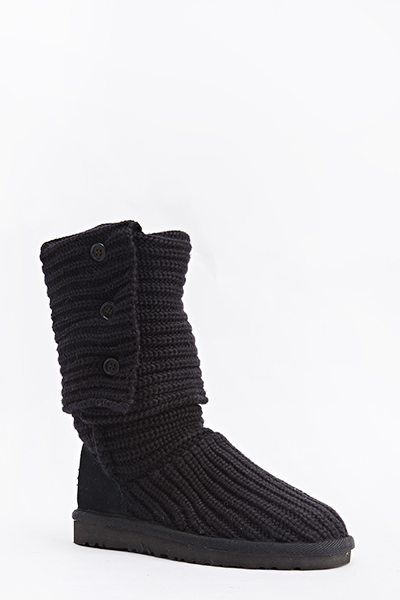 Knit Long Boots