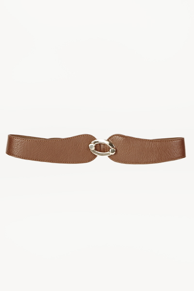 Image of Faux Leather Gold Detail Belt