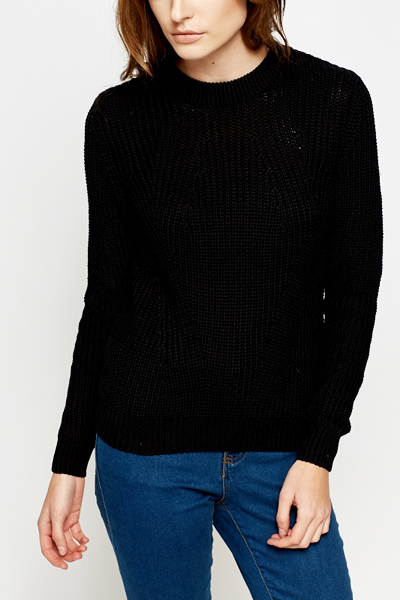 Black Cable Knit Jumper - Just £5 6040b980ae97