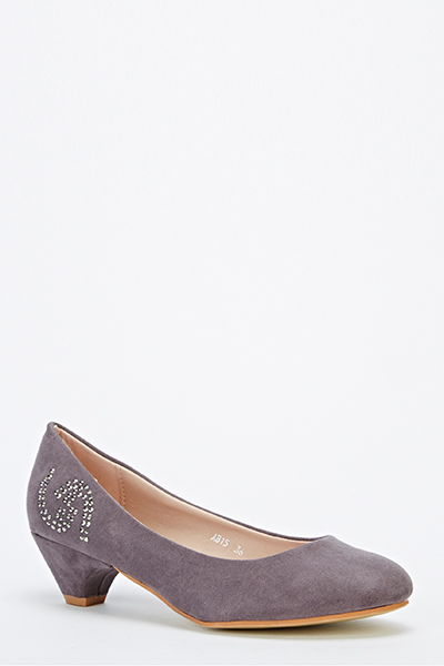 db54f99a7dc Encrusted Side Kitten Heel Shoes - Just £5